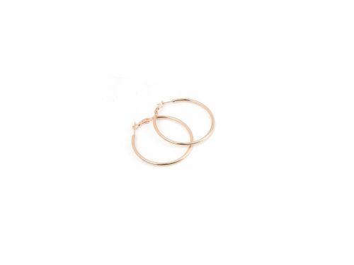Σκουλαρίκι Κρίκος Rose Gold 40mm