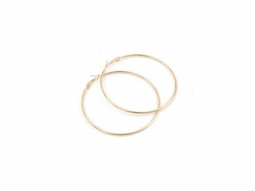 Σκουλαρίκι Κρίκος Χρυσός 70mm