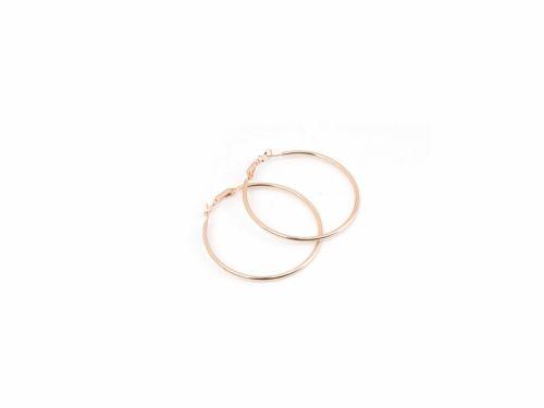 Σκουλαρίκι Κρίκος Rose Gold 50mm