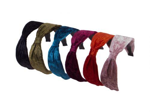 Στέκα μαλλιών βελούδο χρώματα