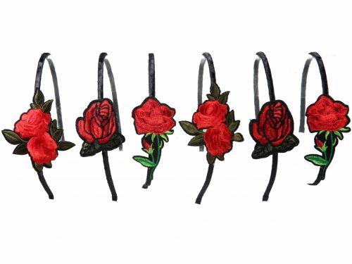 Στέκα μαλλιών με  Κόκκινο Τριαντάφυλλο