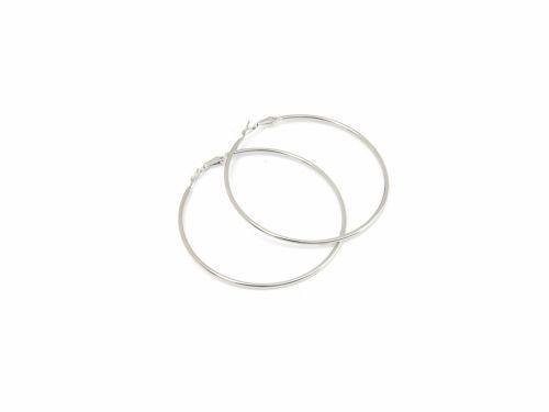 Σκουλαρίκι Κρίκος Ασημί 70mm