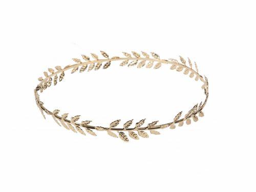 Αρχαιοελληνικό στεφάνι μαλλιών με χρυσά φύλλα