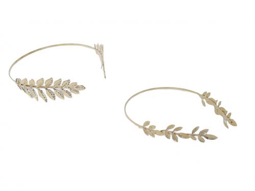 Αρχαιοελληνική στέκα με χρυσά φύλλα