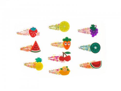 Παιδικό κλικ κλακ μαλλιών  με φρούτα και λαχανικά
