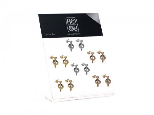 Σκουλαρίκι αυτιού Stainless Steel ασημί/χρυσό/rosegold design