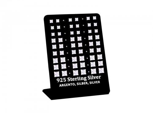 Σκουλαρίκι αυτιού Ασήμι 925 τετράγωνο 4/5/6 mm 4 clip Zircon