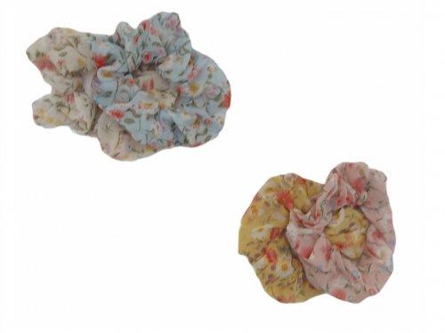 Σούρα μαλλιων floral  σετ 2 τεμ