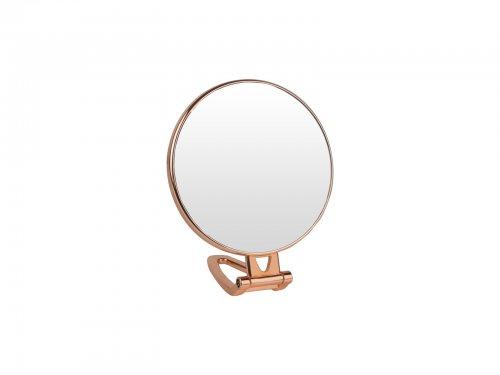 Καθρέπτης επιτραπέζιος & χειρός, διπλής όψης Rosegold, x1 & x3