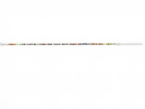 Αλυσίδα ποδιού με πολύχρωμες χάντρες