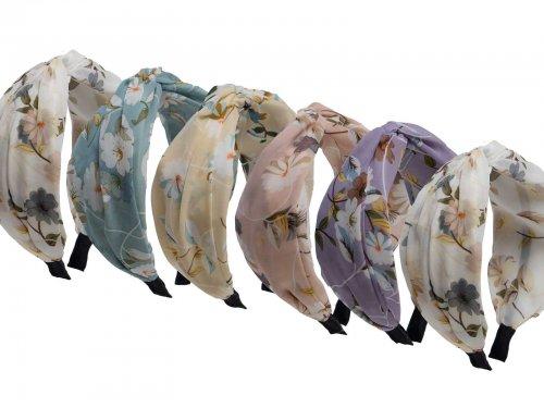 Στέκα μαλλιών με ύφασμα floral