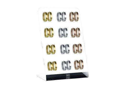 Σκουλαρίκι Κρίκος αυτιού Stainless Steel ασημί/χρυσό/rosegold 4 mm