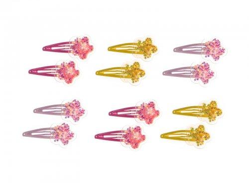 Παιδικό Κλικ κλακ μαλλιών λουλούδι  σετ 2 τεμ